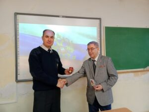 Преподаватель ОБЖ награжден памятной медалью